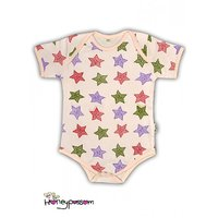 Onesie, romper, with Colorful Smiley Stars design print