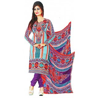 Majaajan Beautiful Multicolor Unstitched Dress Material