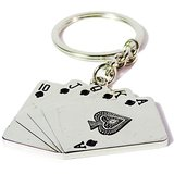 Valentine Day Gift- Unique Playing Card Shaped Key Ring/ Key Chain