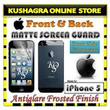 """APPLE IPHONE 5 FRONT & BACK MATTE SCREEN PROTECTOR GUARD """"ANTI SCRATCH & GLARE"""