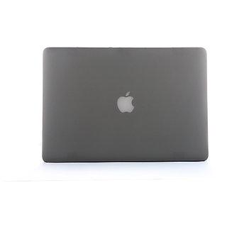 Matte Hard Rubberised Macbook Case for 13 inch Air- Grey Colour+Key board Guard