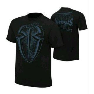 Black-Round-Neck-Half-Sleeve-T-Shirt-For-Men