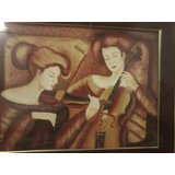 Music In Beauty[canvas Oil Painting And Ceramic Work]