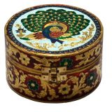 Villcart Meenakari Jewellery Box With Peacock Design