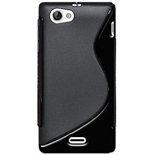 Amzer 95216 TPU Hybrid Case - Black for Sony Xperia J ST26i