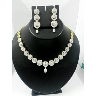 Shagun Fashion Jewellery AD Necklace  Set