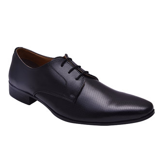 Hirels Black Office Wear Derby Shoes