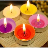SCENTED TEALIGHT CANDLES PACK OF 10 PIECES - Longburning, Exquisite Fragrance