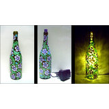 Hand Painted Bottle Lamp