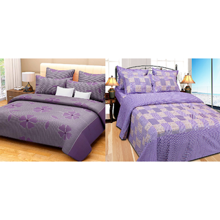 Fresh From Loom Cotton Double Bed Sheet - Buy one Get One Free (870-2pc)