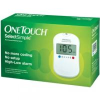 One Touch Select Glucose Monitor with 10 strips free