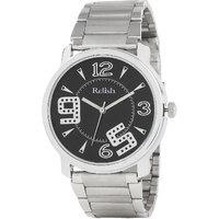 Relish Round Dial Silver Metal Strap Quartz Watch For Men