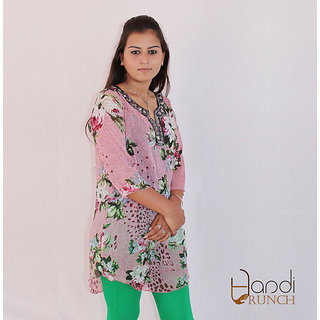 Handicrunch colorful cotton kurtis