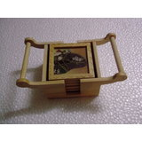 Wooden Gems Stone Painting Trolly Coaster Set