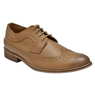 Hirels Tan Full Wing Brogues