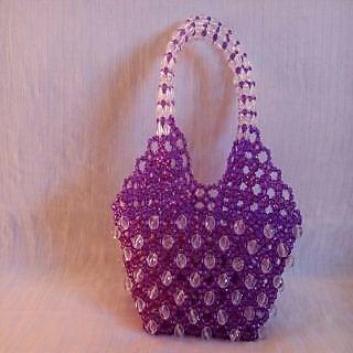White Violet Stylish Handbag