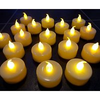 12 Flameless Tea Light Candles/ Led Candles / Party Candles (White Natural Flame