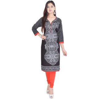 Vihaan Impex Indian Instyle Black Jaipuri Cotton Kurti