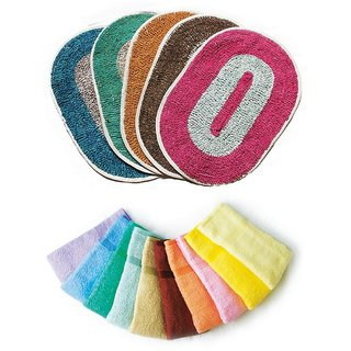 Combo of 4 Bath Mats and 3 Face Towels