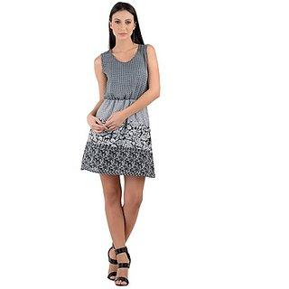 319f696e58e 75%off Raabta Fashion Black Printed Midi Dress For Women