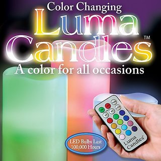 12 Colors Luma Candles With Remote Control