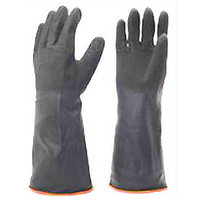Rubber Gloves Hand Gloves Size Large Latex Wash Clean Hand Protector Gloves Indu