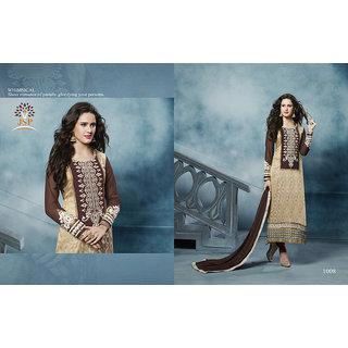 Magnet, Designer Straight Cambric Cotton Salwar Suit, Party Wear Straight Salwar