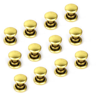 Copper Dual Head Jeans Craft Rivets 6 x 7mm Pack of Approx. 50Pcs Gold