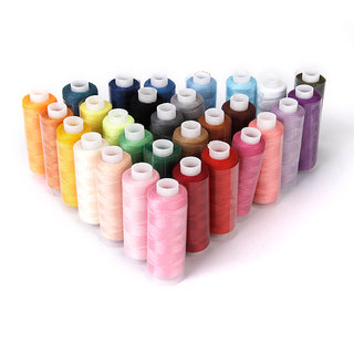 Polyester Sewing Quilting Threads 40S/2 Pack of 30 Spools Assorted Colors