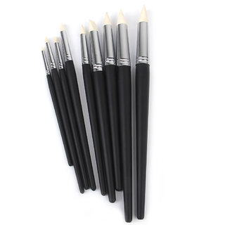 Flexible Clay Sculpting Rubber Shapers Wipe Out Tools 9pcs Black