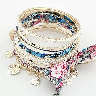 Floral Bangle Set