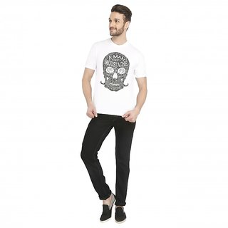 Moustache Man T-shirt Casual