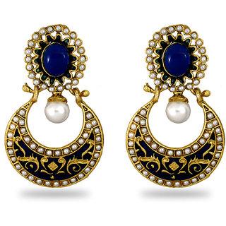 TORUS Golden  Antique meenakari Metal  Earring for women
