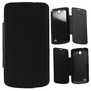 Platina Flip Cover For Gionee Pioneer P3 Black available at ShopClues for Rs.199