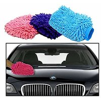 Takecare Microfiber Glove Mitt For Car Cleaning Washing For Mahindra Bolero 2011 Type-3