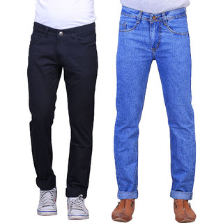 Denim-Blue-Mid-Rise-Jeans-For-Mens-(Pack-Of-2)