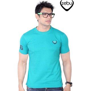 Zebu Turquoise Plain T-Shirt
