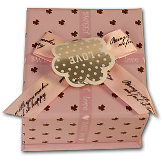 Sweet Heart(Square) Paper Box -Small - Light Purple