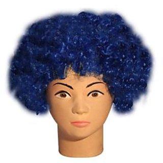 Dark Blue Curly Wig