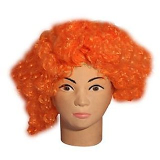 Orange Curly Wig