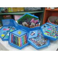 COLOR SET 46 PCS, COLOR PENCIL ,CRAYONS, OIL PASTEL, SKETCH PENS [CLONE] - 1939548