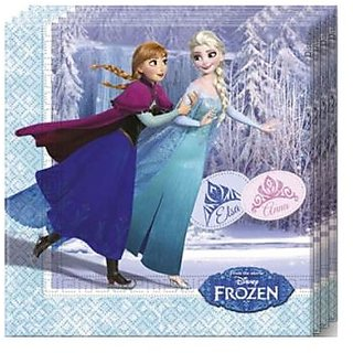 Frozen Ice Skating-Two-Ply Paper Napkins