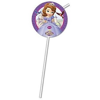 Sofia The First-Medallion Flexi Drinking Straws