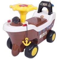Ez Playmates Pirate Ship Fun Ride On Brown