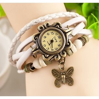 New Fashion Leather Bracelet Watch For Women - White