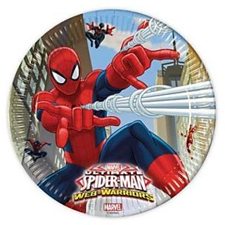 Ultimate Spiderman Web Warriors-Paper Plates