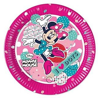 Minnie Dots-Paper Plates