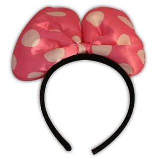 Plastic Small Size Headband Without Light - Baby Pink