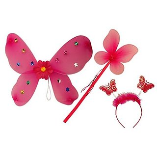 Plastic Wingset Single Layer - Hot Pink