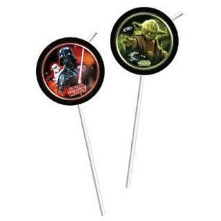 Star Wars  Heroes-Medallion Flexi Drinking Straws